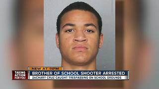 Parkland school shooter's brother arrested for trespassing at Stoneman Douglas - Video