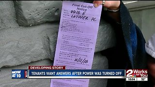 Tulsa tenants want answers after power turned off