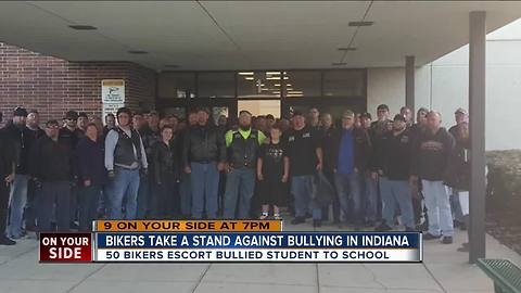 Bikers take a stand against bullying in Indiana