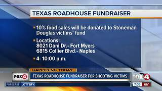 Texas Roadhouse fundraiser for Parkland school shooting victims - Video