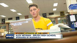 Student Athlete of the Week: Alex Neyman - Video