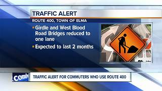 Traffic alert for commuters who use the 400 - Video