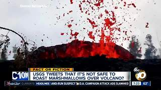 Marshmallow warning about volcano? - Video