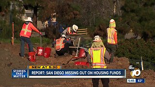 Report: San Diego missing out on affordable housing dollars