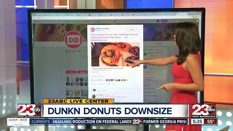 Dunkin Donuts is slimming down