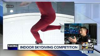 Indoor skydiving competition in the Valley - Video
