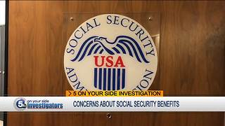 Concerns about social security benefits