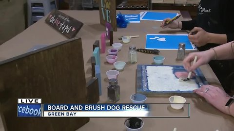 Board & Brush Green Bay teaming up with Lucky 7 Dog Rescue for a fundraising event