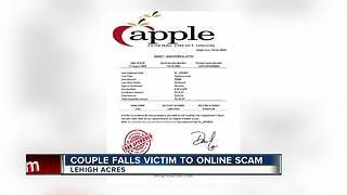 Couple Falls Victim To Online Scam - Video