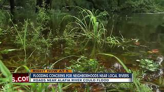 County officials concerned about flooding near Alafia River, some roads may close
