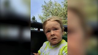 You Have To See This Kid's Hilarious Reaction To His First Roller Coaster Ride - Video