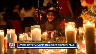 Community remembers teen killed in deputy crash