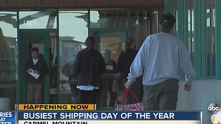 Busiest shipping day of the year - Video
