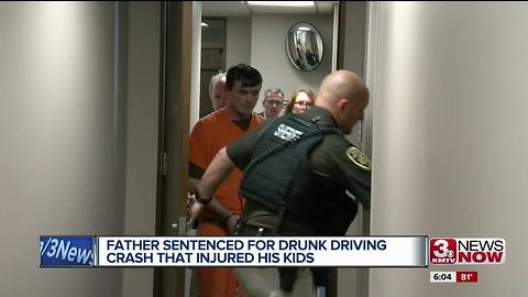 Father sentenced for DUI crash that injured kids