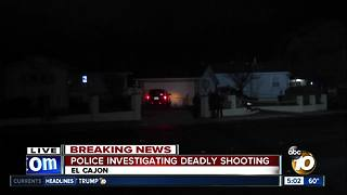 Police investigating deadly shooting in El Cajon - Video