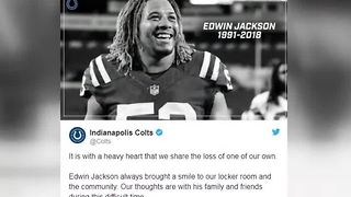 Colts linebacker Edwin Jackson killed by suspected drunk driver in crash - Video