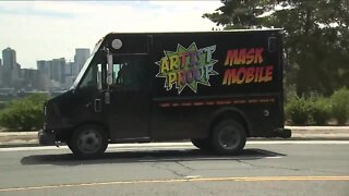 Denver screen printing business turns ice cream truck into mask mobile