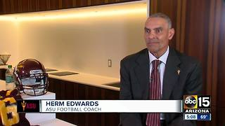 Herm Edwards introduced as new head coach for ASU football - Video