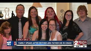 Family speaks after mother, father die in crash