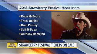 2018 Strawberry Festival tickets on sale now - Video