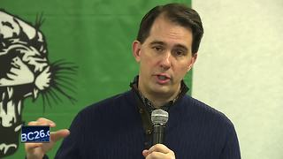 Walker visits Coleman School District - Video