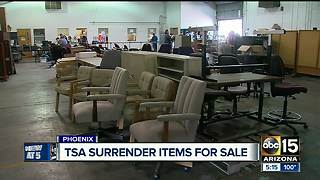 Items left behind at airports, airplanes sold; sales are popular - Video