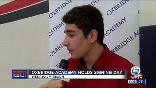 Oxbridge Academy holds signing ceremony - Video