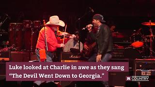 Watch Luke Bryan's rocking performance with Charlie Daniels | Rare Country - Video
