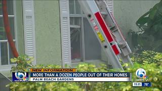 More than a dozen people displaced after fire in Palm Beach Gardens - Video