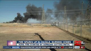 Oildale fire burns homes, vehicles