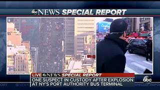One suspect in custody after explosion at NY's Port Authority bus terminal - Video