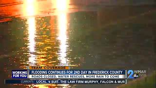 Thunderstorms cause flash flooding in Maryland