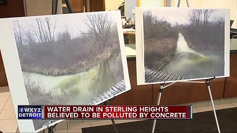 Water drain in Sterling Heights believed to be polluted by concrete