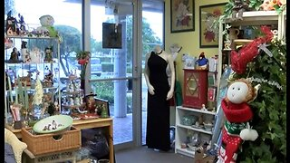 Thrift store shopping for holiday gifts