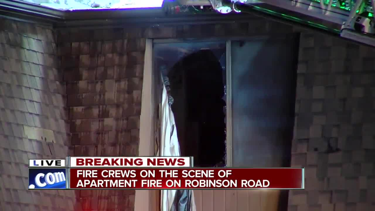 Crews continue to investigate large Lockport apartment fire on Robinson Road