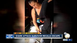 San Diego shark attack survivor recalls escape - Video