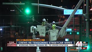 KC Streetcar closes for re-tensioning wires - Video