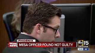 Ex-Mesa officer found not guilty of second-degree murder - Video