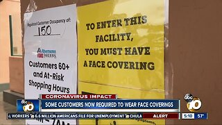 Some grocery stores requiring customers to wear facial coverings