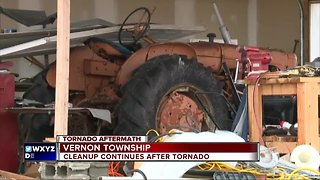 Cleanup continues after tornado hits Vernon Township in Shiawassee County