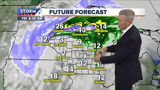 Light showers possible to start Friday - Video