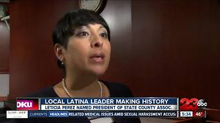 Local Latina leader making history - Video