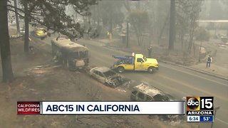 ABC15 covering California wild fires