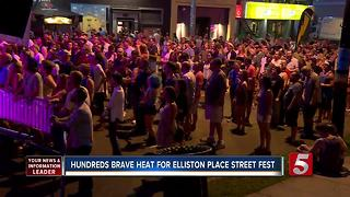 Elliston Place Street Fest Goers Brave The Heat - Video