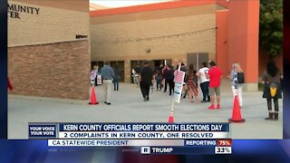 Kern County officials report smooth elections day