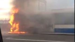 Commuter Captures Bus Fire on Sydney Harbour Bridge - Video