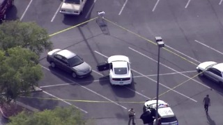 Police searching for shooting suspect near Nellis, Stewart - Video