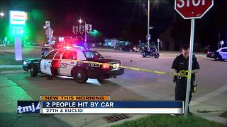 Milwaukee Police: 2 injured after being struck by car