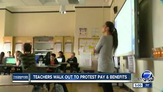 Colorado teachers rally for higher pay, better pension at state Capitol