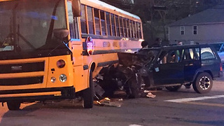 School Bus Involved In Crash - Video